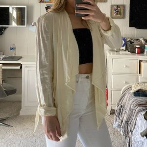 Free People Linen Off White Jacket